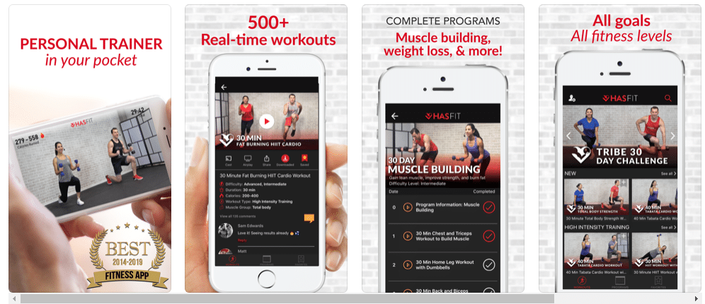 HASfit: Home Workout Routines