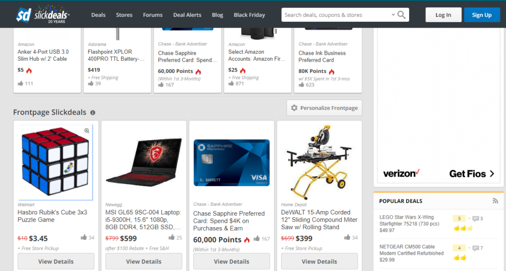 Slickdeals: top websites to shop Tech products