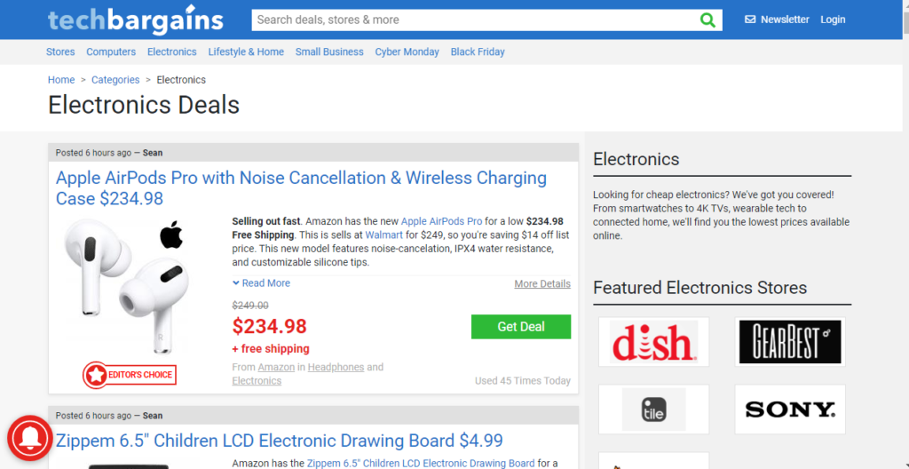 Save money by shopping from these 5 online Tech product sites: TechBargains
