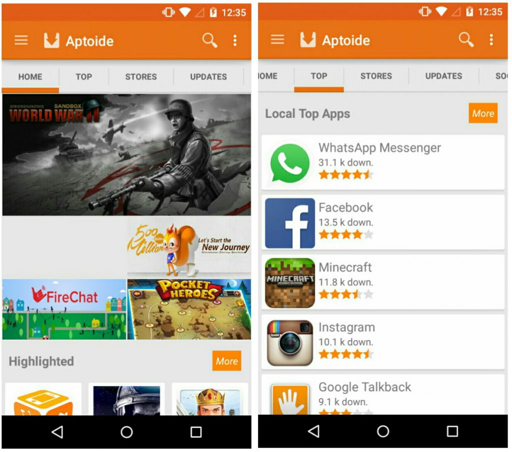 Aptoide: Google Play alternatives