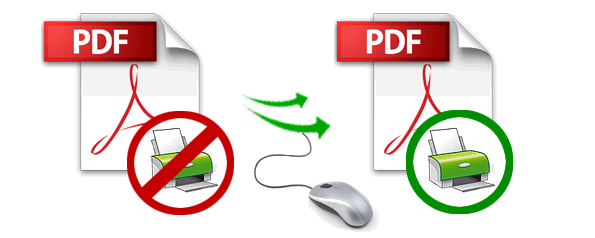 print a protected PDF
