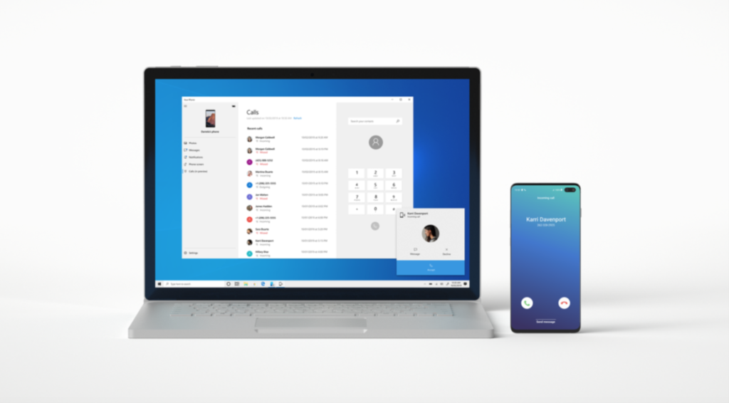 Receive and make phone calls on Windows from Android