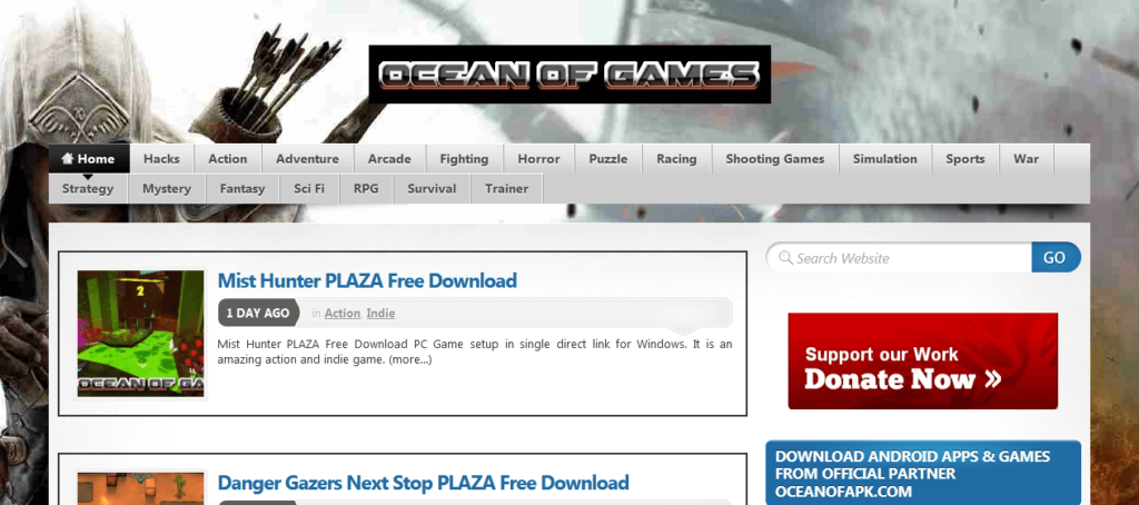Ocean of Games: Top 4 Websites for  downloading PC games & Software free