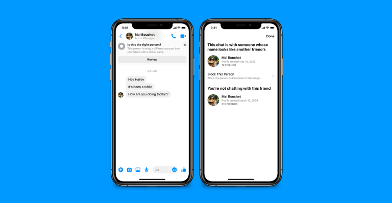 new Facebook Messenger security feature