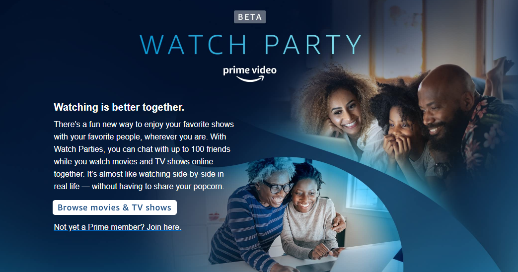 amazon prime video watch party