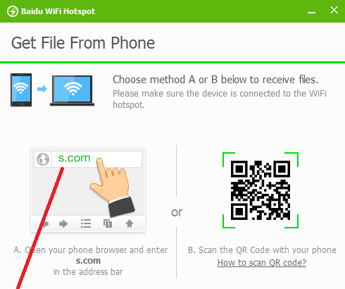 Easy way to share files between Android and PC via Hotspot