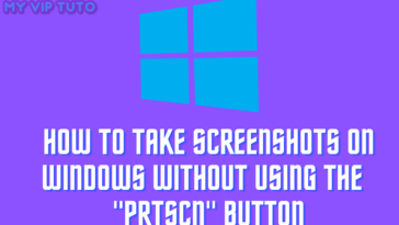 "How to take screenshots on Windows without using the ""PrtScn"" Button"